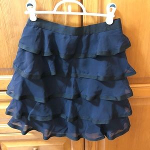 H&M Navy Tiered Skirt
